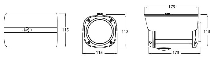 Eyemax XIR-2364FV HD-SDI 1080p(2MP) IR Bullet Camera with 12 COB IR / 6~50mm Lens / Dual Power